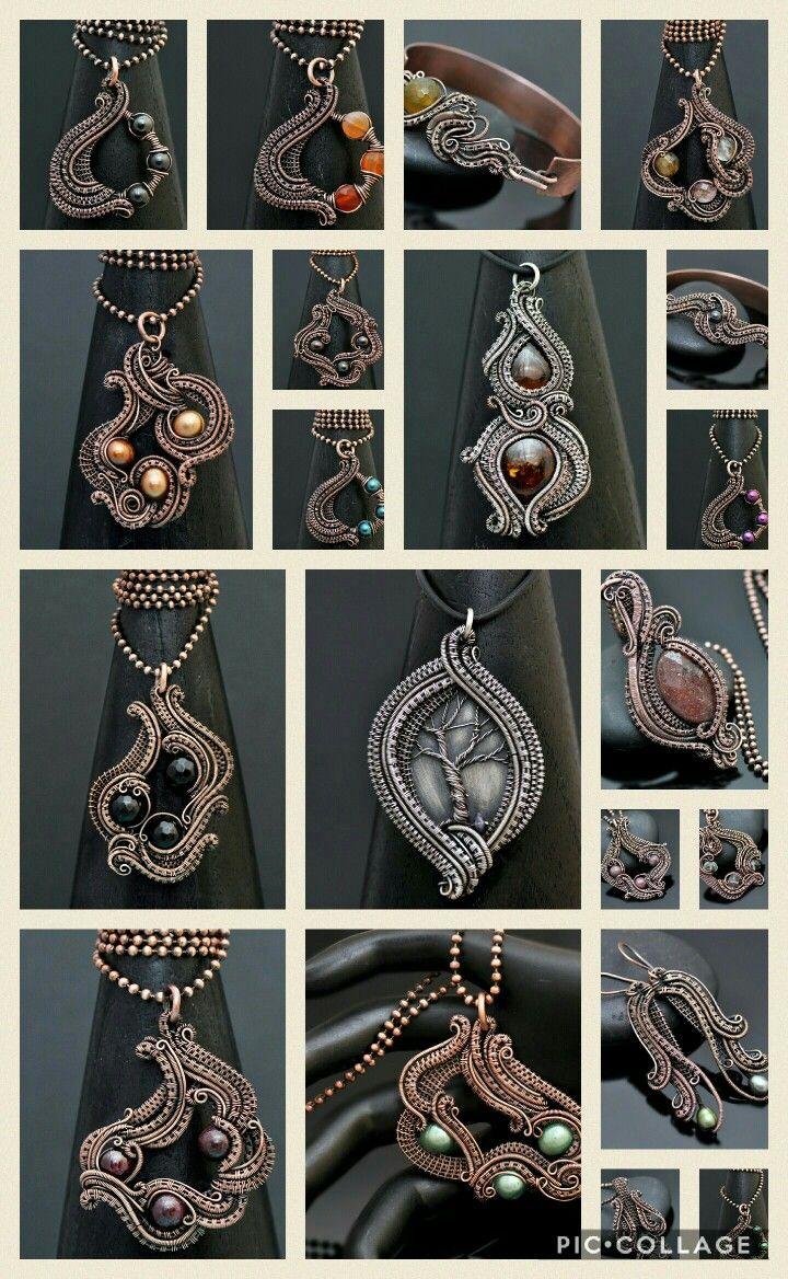 February 2017 wire wrap jewelry makes. www.nicolehannajewelry.com