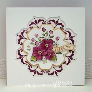 I thought this card was strikingly beautiful.  Using Bordering on Romance stamp set from SU!  From syviastamps.typepad.com