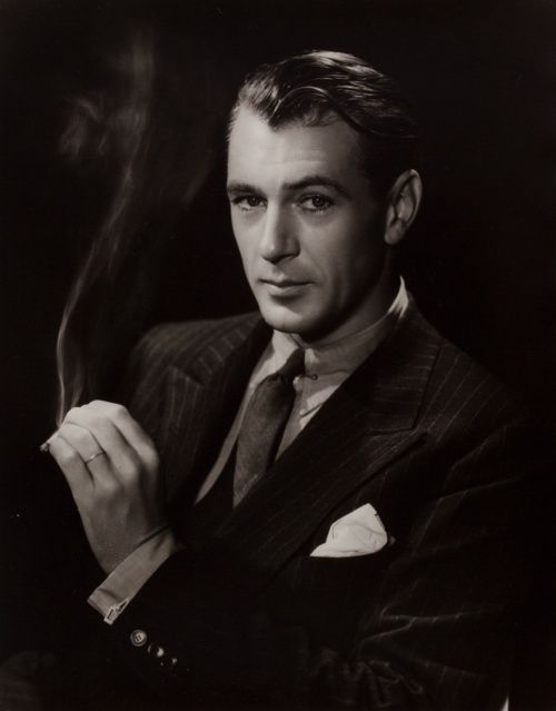 Gary Cooper photographed by George Hurrell, 1937