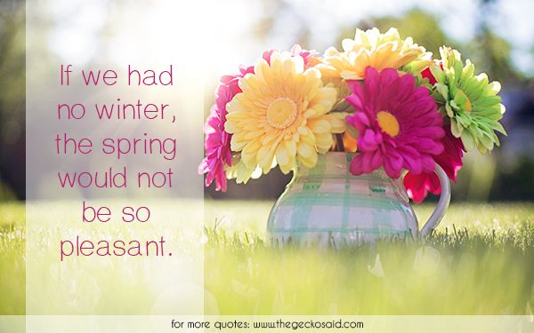 If we had no winter, the spring would not be so pleasant.  #nature #pleasant #quotes #spring #winter