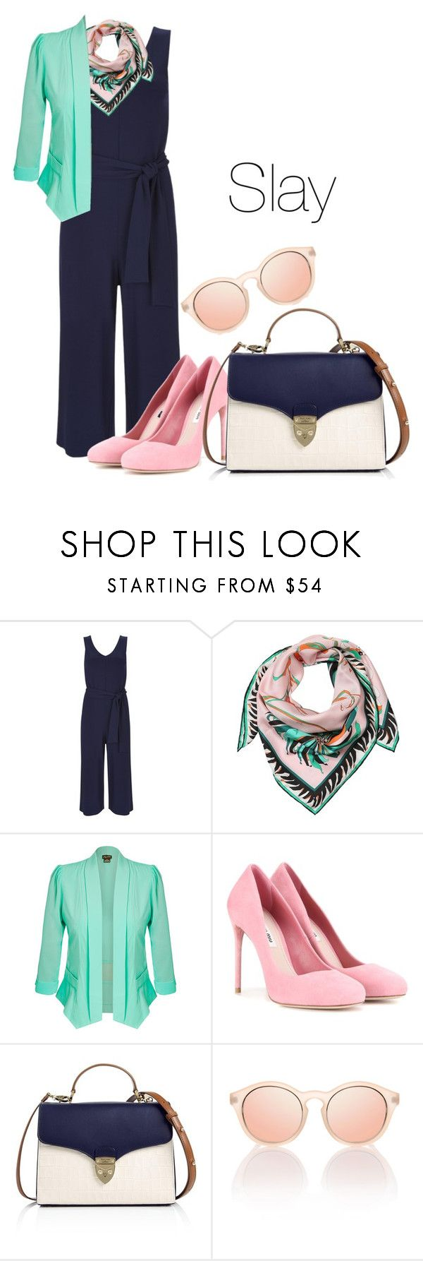 """""""Untitled #305"""" by racita on Polyvore featuring Emilio Pucci, City Chic, Miu Miu, Aspinal of London and Le Specs"""