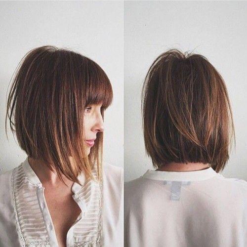 10 Besten Bob Frisuren Fur Dickes Haar Haare Pinterest Hair