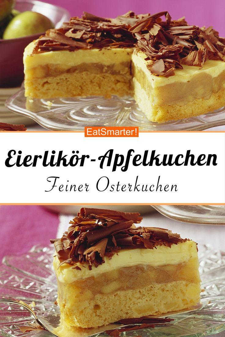 Osterkuchen: Eierlikör – Apfelkuchen mit Schokolade | eatsmarter.de # eierlikörku …   – Ostern Rezepte