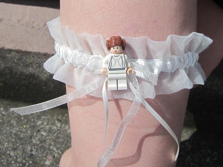 Lego Star Wars Princess Leia Garter / GEEKERY/ Star Wars Wedding / Sexy Star Wars fashion. $25.00, via Etsy.
