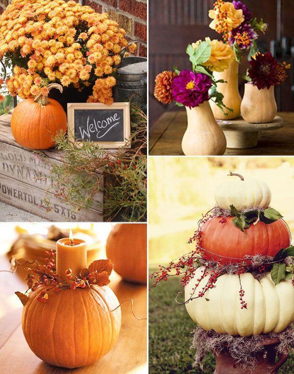 decorazioni autunnali zucche | Wedding Wonderland