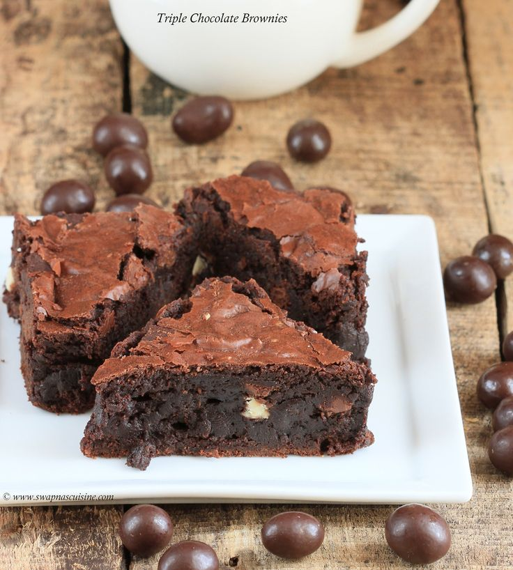 This would probably rate as the best brownies I have ever baked. All the delicious goodness of dark, white and milk chocolate are combi...