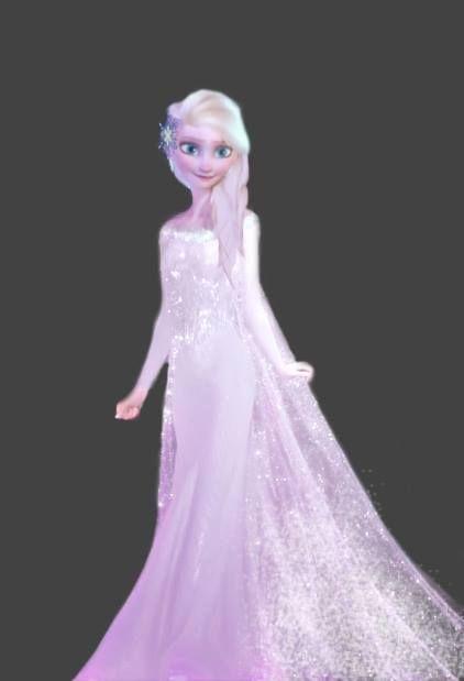 2019 year for lady- Elsa Frozen wedding dress? Love it