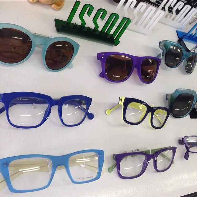 So many great frames in blues, purples and greens from ISSON, @laeyeworks @zealoptics and Roger Henley  and a little yellow in there too! All at our James at Burleigh Heads store.