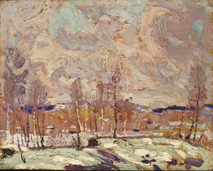 Tom Thomson (1877 - 1917), Spring Flood, 1917, oil on wood panel,  21.2 x 26.8 cm, Gift of Mr. R.A. Laidlaw, 1966.15.23