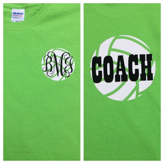 Custom Coach Volleyball TShirt with by DoodleDarlingDesigns