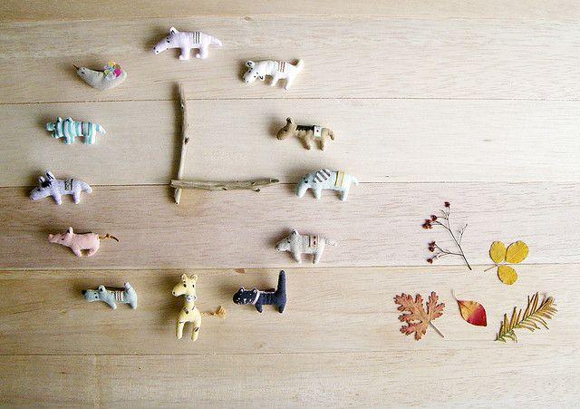 sticks glued to claock hands  clock by happado, via Flickr
