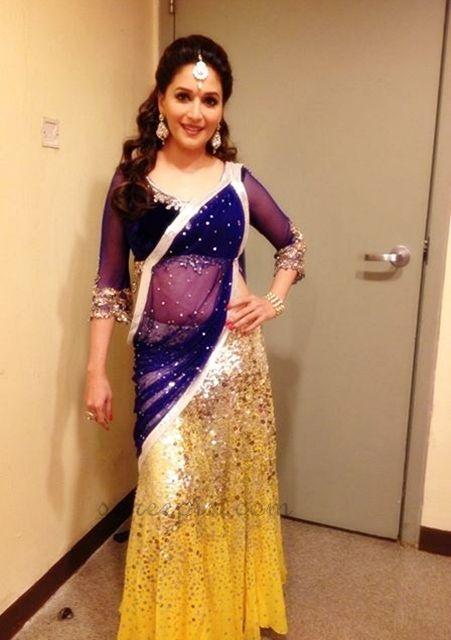 Madhuri Dixit before her performance at IIFA Awards 2013