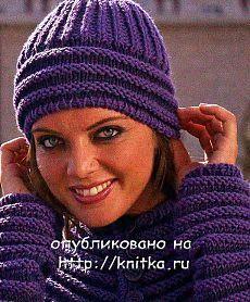 женская шапка спицами с описанием: 31 тыс изображений найдено в Яндекс.Картинках