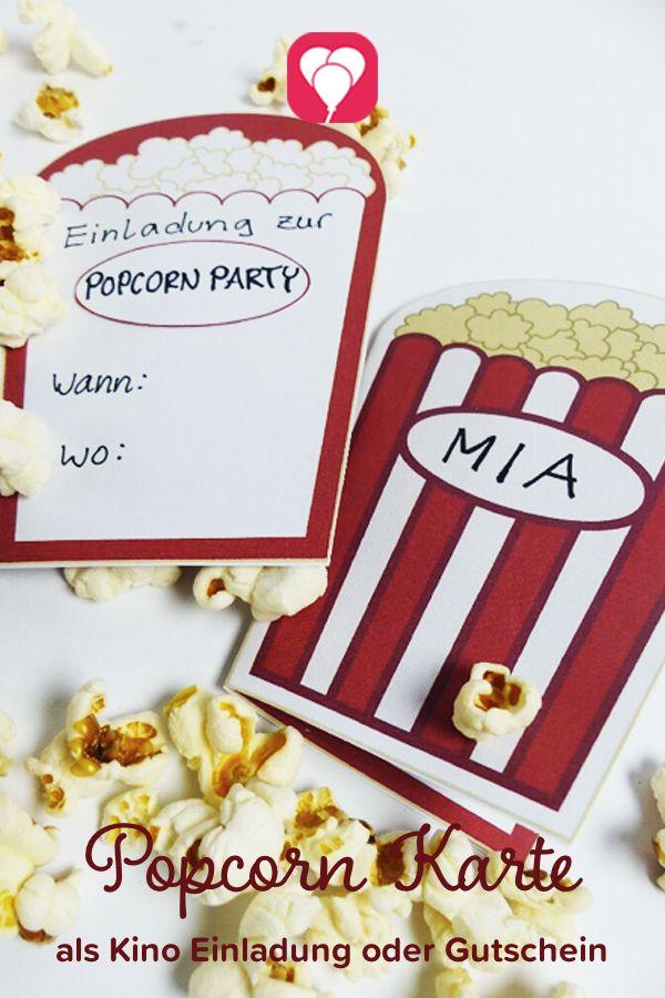 Kino Einladung Als Download! Schnell Noch Eine Passende Kino Einladung  Basteln? Auf Balloonas.com Findest Du Die Perfekte Vorlage Für Deine  Einladung Zum ...
