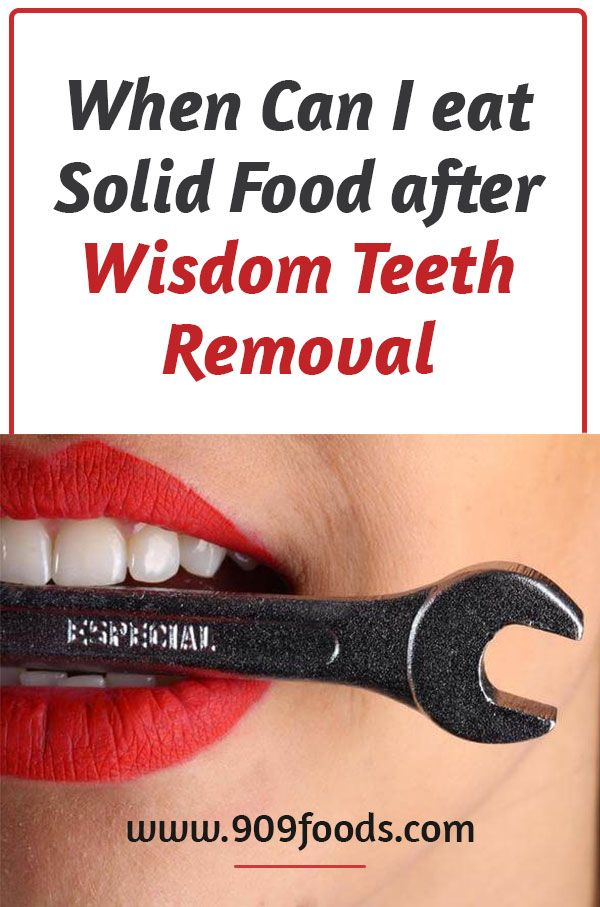 when can I eat solid food after wisdom teeth removal : Wisdom teeth removal  is usually accompanied… | After wisdom teeth removal, Wisdom teeth removal, Wisdom  teeth