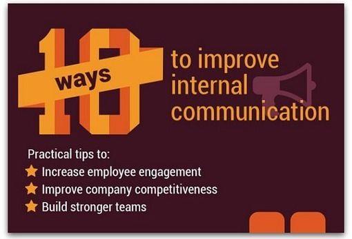 Infographic: 10 ways to improve internal communication #Leadership #Communication