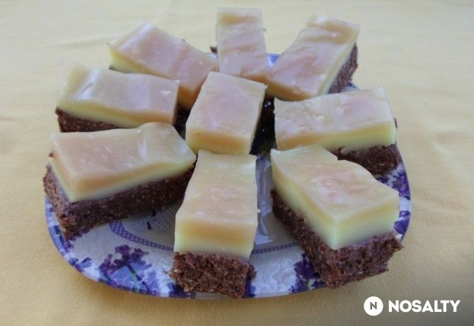 Sütés nélküli kókuszos-pudingos süti