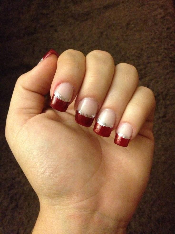 Christmas acrylic nails | Hair/Makeup/Nails | Pinterest