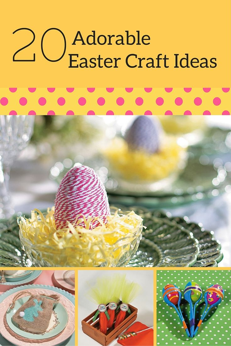 Check out all of our Easter Crafts for your home decor and Easter celebrations. From DIY twine eggs, burlap stamped favor bags, and even egg maracas.