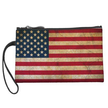 Vintage American Flag Mini Clutch - red gifts color style cyo diy personalize unique