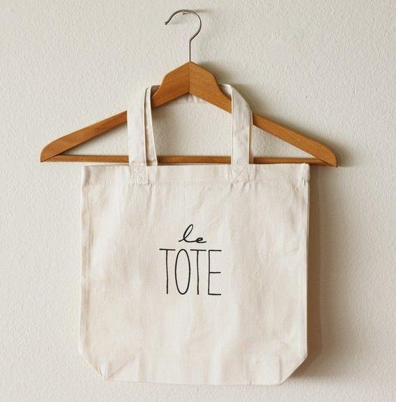 Le Tote Bag von OhLeanderShop auf Etsy, $20.00