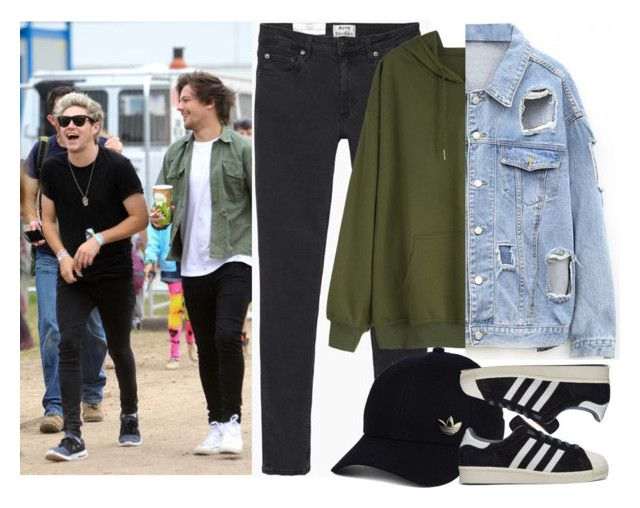 """Music festival with Niall and Louis (as Niall's girlfriend)"" by ilaria-1999 ❤ liked on Polyvore featuring Acne Studios and adidas"