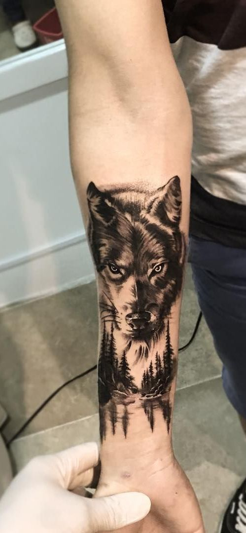 50 Of The Most Beautiful Wolf Tattoo Designs The Internet Has Ever Seen Wolf Tattoo Sleeve Wolf Tattoos Nature Tattoos