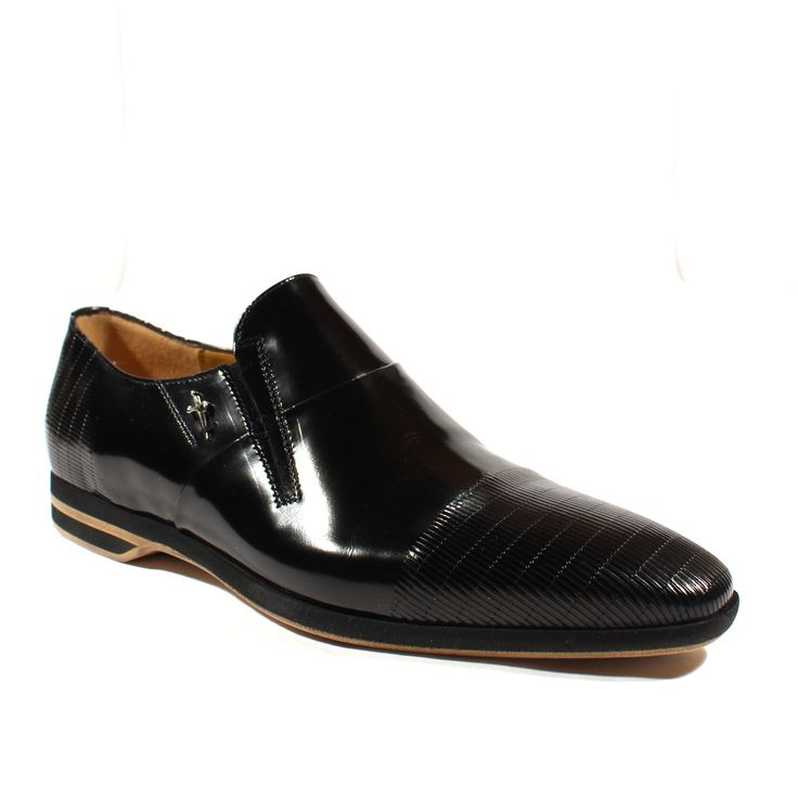Cesare Paciotti Mens Shoes Magic Old Black Leather Loafers (CPM2414)