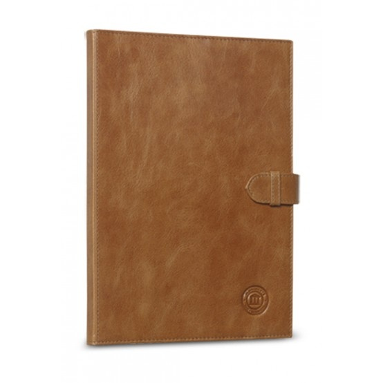 Golden tan leather folio case for Galaxy Tab II 10.1. Price: $90. More information: www.dbramante1928.com.