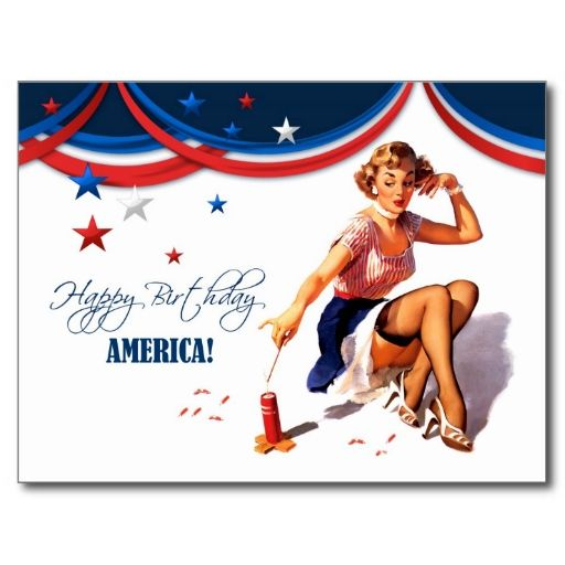happy 4th july postcards