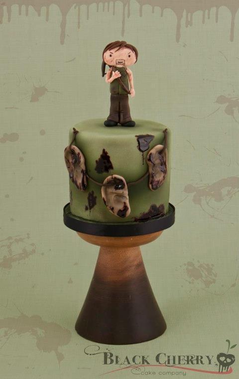Walking Dead birthday cake. Love the ears!