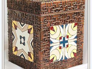 Декорируем короб в технике имитации перегородчатой эмали   Ярмарка Мастеров - ручная работа, handmade