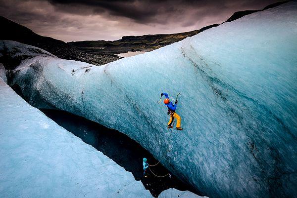 Ice Climbing Mýrdalsjökull Glacier, Iceland  (Photograph by Keith Ladzinski).