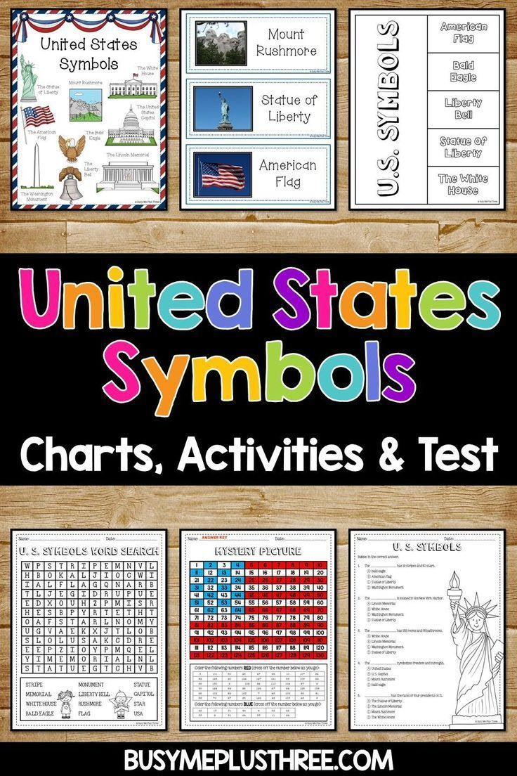 United States Symbols Mega Unit American Symbols Anchor Charts Printables United States Symbols American Symbols State Symbols