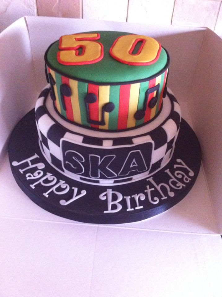 Ska and reggae birthday cake