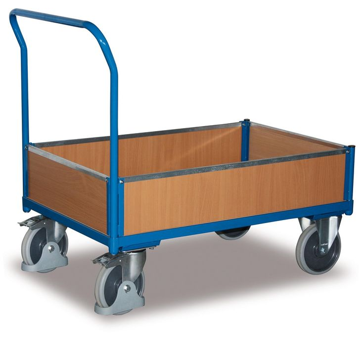 GTARDO.DE:  Kastenwagen mit Holz, Tragkraft 500 kg, Ladefläche 1200 x 752 mm, Maße 1325 x 800 x 1006 mm, Rad 200 mm 234,00 €