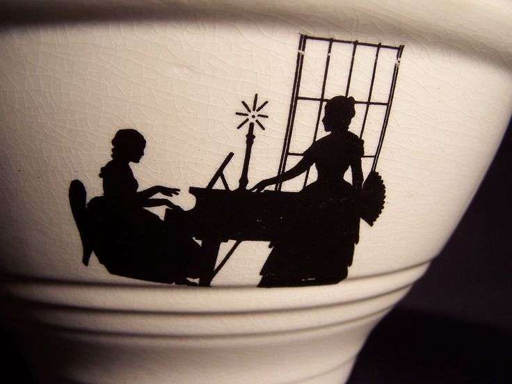 Harker Pottery Silhouette pattern Mixing Bowl