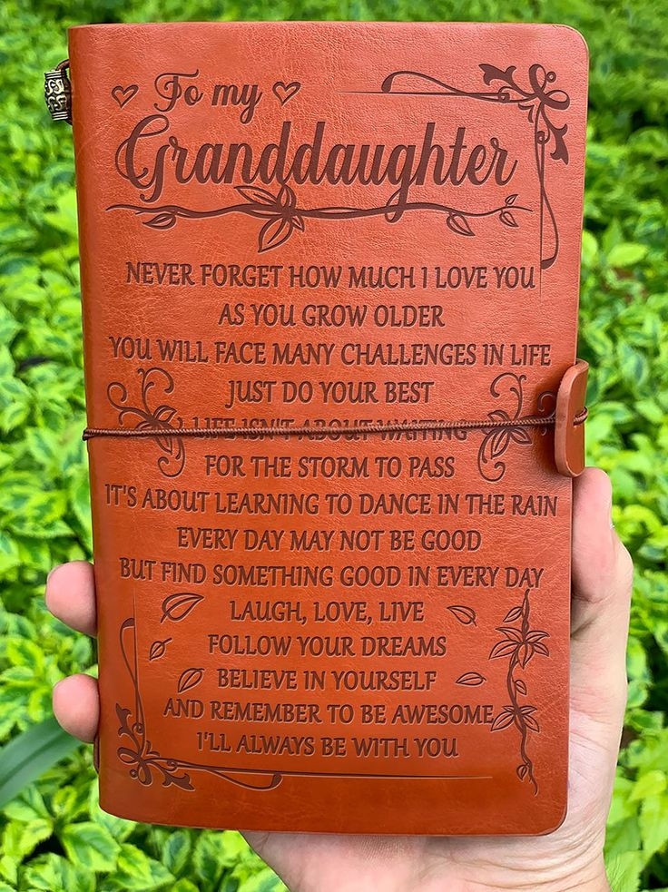 Get Your Granddaughter A Special Gift This Is A Beautiful Notebook For Writers Poets Travelers As A In 2020 Vintage Journal Beautiful Notebooks Grandaughter Quotes
