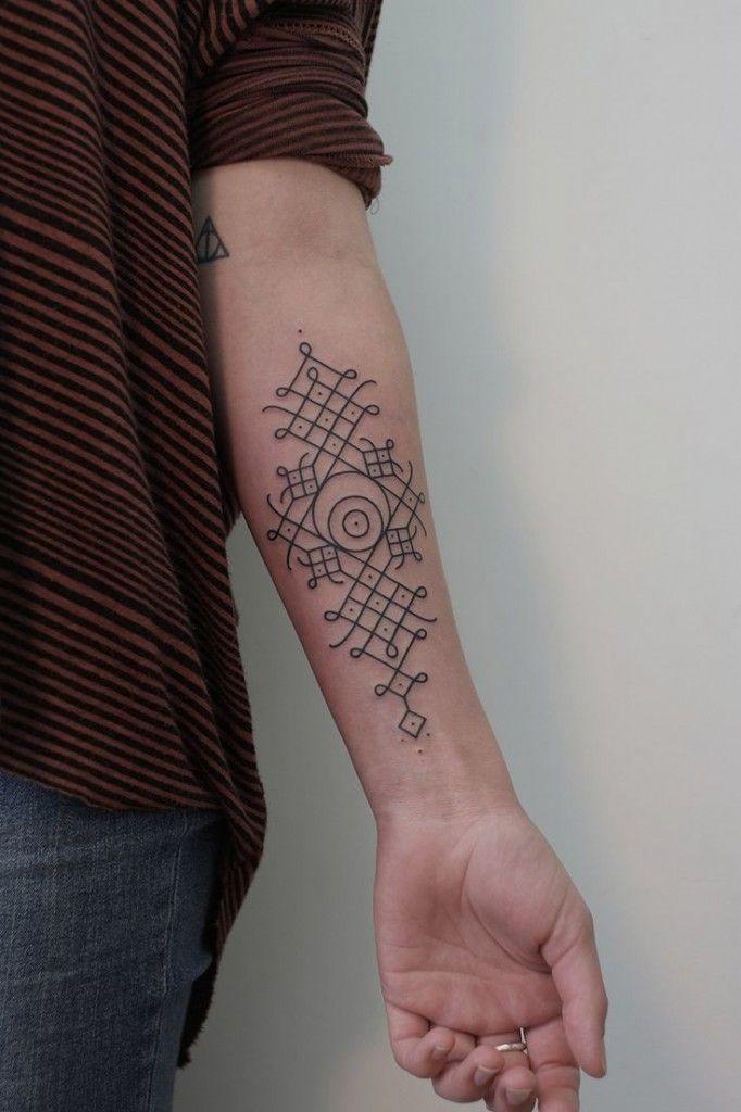 Minimal Tribal Pattern Tattoo | Best tattoo design ideas