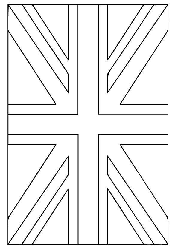 United Kingdom Flag Flag Coloring Pages American Flag Coloring