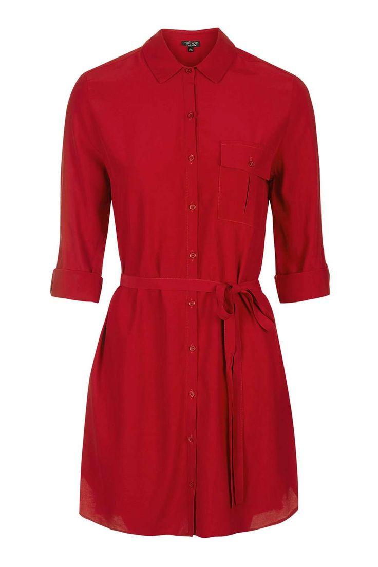 TOP SHOP Belted Shirt Dress