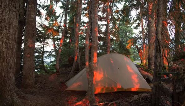 Pacific Coast Trail uniquely chronicled by photos of backpackers' tent