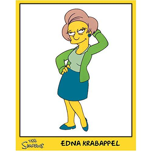 The Simpsons Edna Krabappel Pictured 8 x 10 Inch Photo