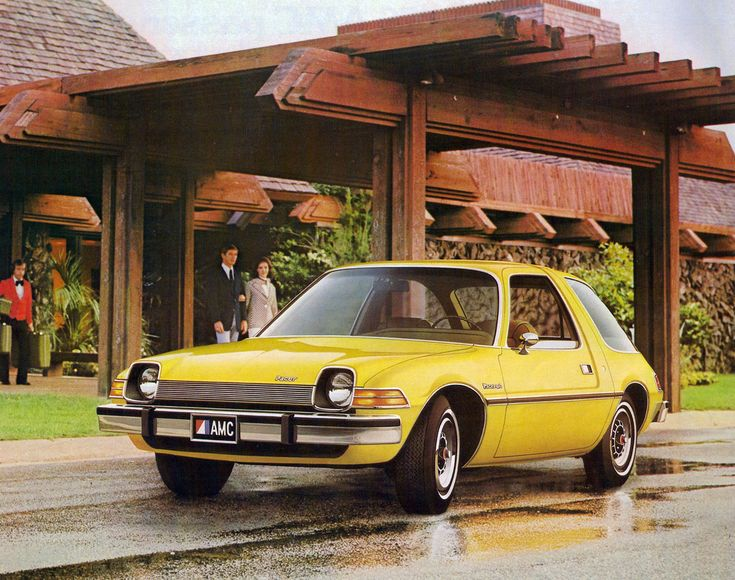 1976 American Motors Pacer DL  Bought it new in 1977. Good interior room, body had more iron and durability than cars of today.