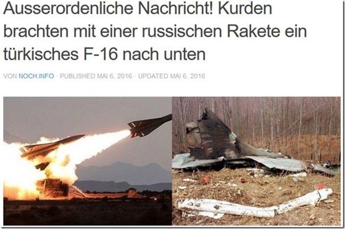 Türkische F-16 von Kurden mit russischer Rakete abgeschossen? – Ein glatter Fehlschuss!  http://www.mimikama.at/allgemein/trkische-f-16-von-kurden-mit-russischer-rakete-abgeschossen-ein-glatter-fehlschuss/