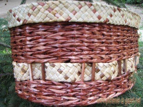 Плоское плетение из газет - Узоры.Мастер-классы
