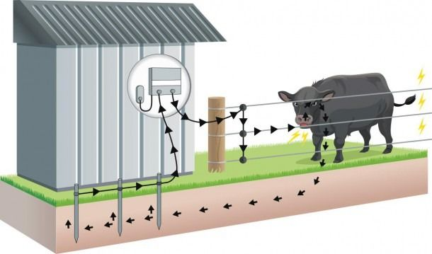 Electric Fence Diagram Electric Fence Horse Fencing Fence Charger