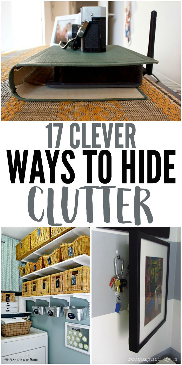 Looking for clever clutter solutions? Look no further! This organization tips will help hide the junk, giving you the look of a clutter free home.