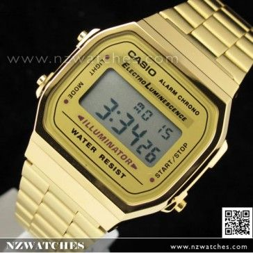 BUY Casio Vintage Retro style Unisex Gold Digital Watch A168WG-9, A168WG - Buy Watches Online | CASIO NZ Watches
