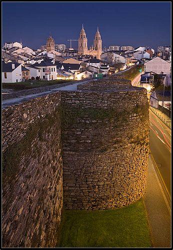 Walled city. Lugo. Spain
